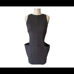 hache Dresses & Skirts - Hache Navy Blue Cotton Slim Fit Strappy Mini Dress
