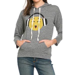 Tops - 😍Smile emoji hooded top 😉