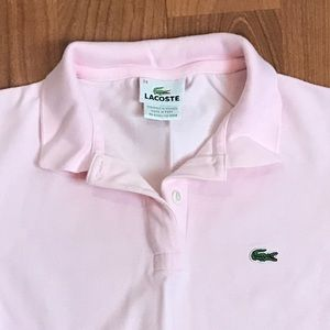 Lacoste Tops - Pink polo shirt