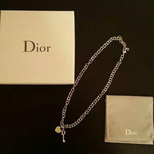 Dior Heart & Key Lock Necklace