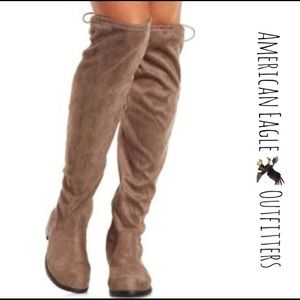 224332a5153 American Eagle Outfitters Shoes - 🎀AEO DRAWSTRING TIE OVER KNEE BOOTS🎀