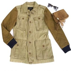 J. Crew Jackets & Blazers - J.Crew Fatigue Quilted Utility Jacket