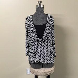 Tops - Black & White Blouse 14/16W Plus Size Top
