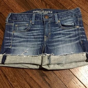 American Eagle dark wash denim shorts