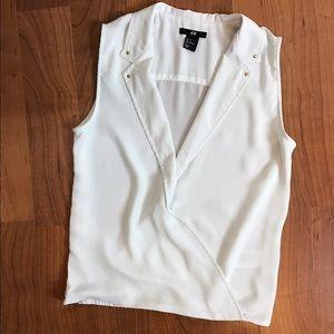 White sleeveless tank