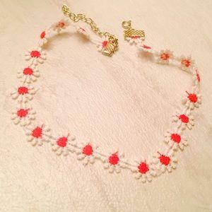 Jewelry - Red daisies choker