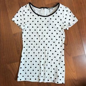 Polka dot shirt sleeve top