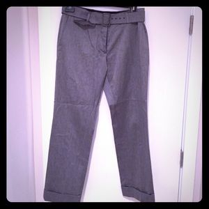 Dries Van Noten Pants - Dries Van Noten // grey slacks with belt and cuffs