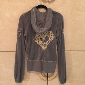 TWISTED HEART Tops - Twisted Heart jacket in gray French terry size med