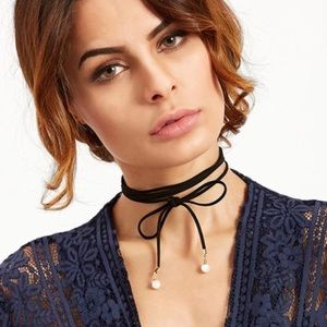 For Love and Lemons Jewelry - Pearls wrap choker