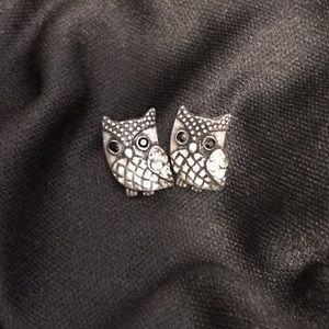 Jewelry - Owl Crystal Earrings