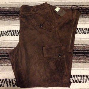 INC International Concepts Pants - Suede Cargo Pants