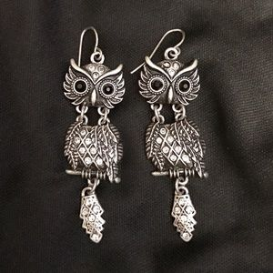 Jewelry - Dangle Owl Earrings