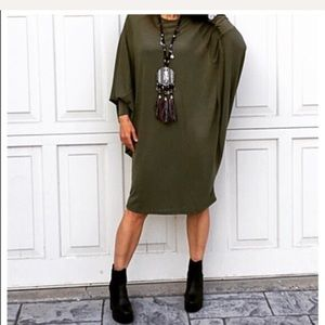 Classic Woman Dresses & Skirts - Loose fit dolman sleeve dress.