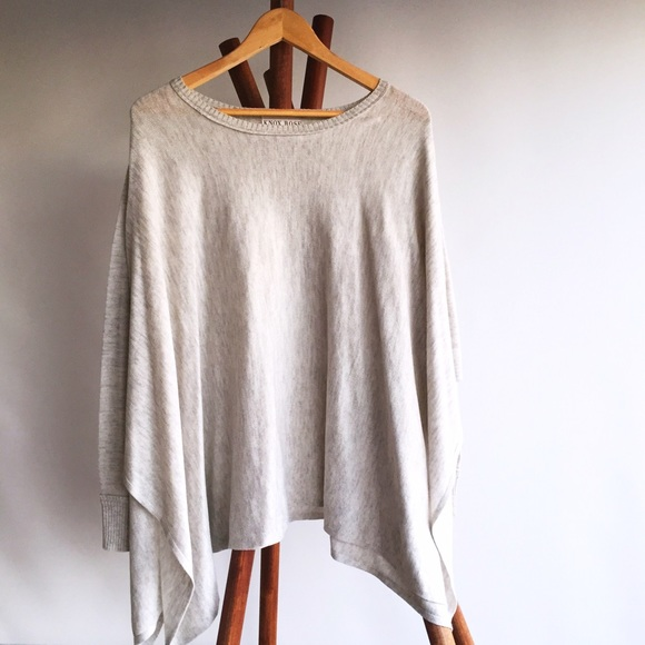 Oversized Sweater Poncho with Sleeves \u2022 Knox Rose
