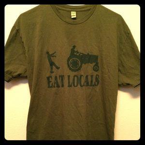 Tops - Eat Locals Tee