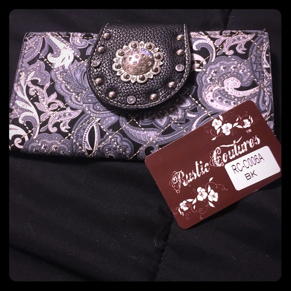 Rustic Couture Handbags - Paisley Wallet Clutch