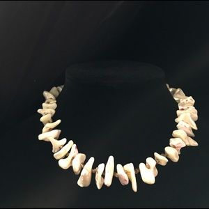 Vintage shell and bead necklace from Japan 1950s