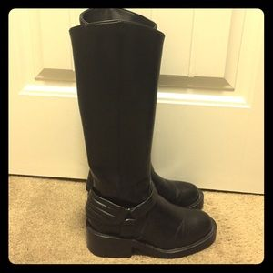 Zara Faux Leather Riding Boots Sz 6