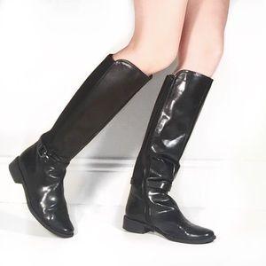 Anne Klein Shoes - Vegan Leather Riding Boots. Anne Klein Flex