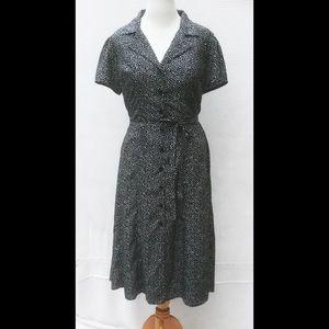 eshakti Dresses & Skirts - New Eshakti Polka Dot Midi Shirt Dress 16W