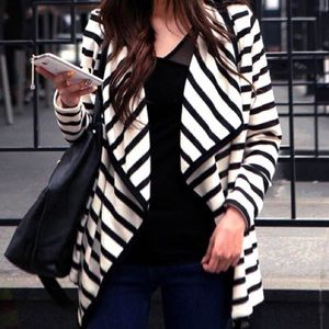 Striped casual Cardigan