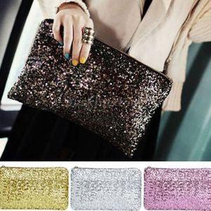 Several colors! Sequin clutch bag