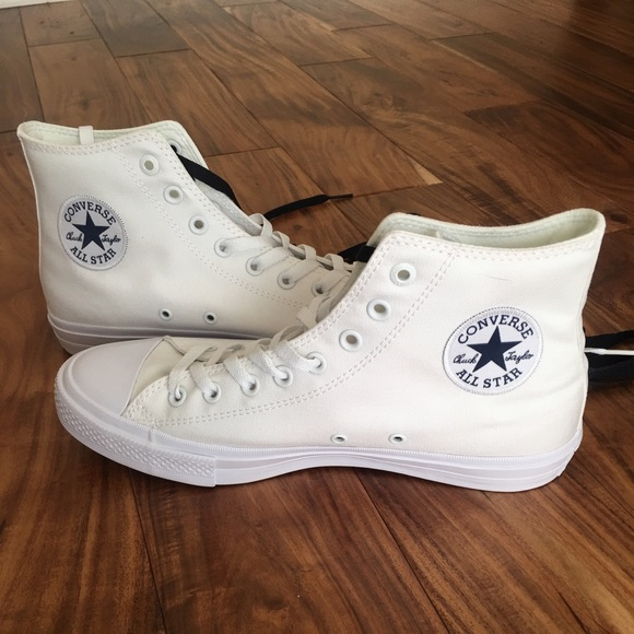 Converse Shoes   New White High Top
