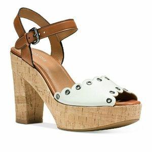 Coach  Shoes - New COACH April Platform Leather Sandals Shoes NWB