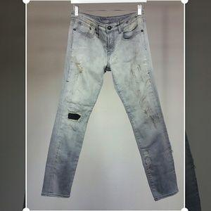 R 13 Denim - R13 Alison crop skinny jeans light grey