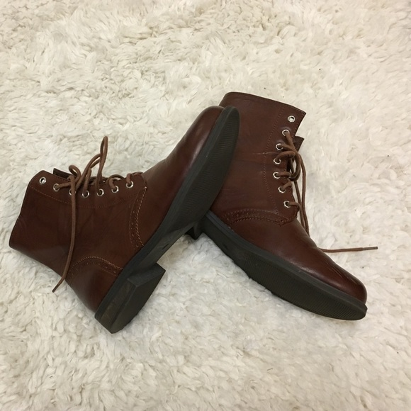50% off H&M Shoes - Brown lace up ankle boots from Ship weekends ...