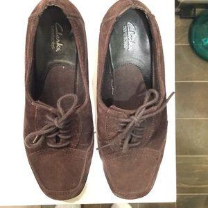 Clarks Shoes - Clarks bendables tie up heels