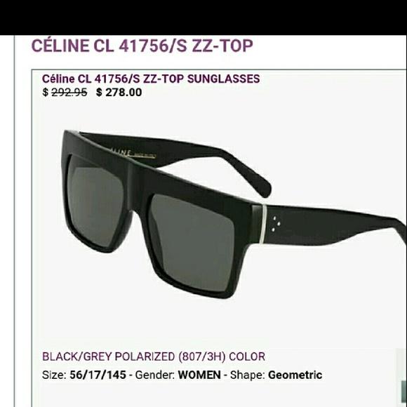 d50620ce751e CELINE ZZ-TOP Black Sunglasses STUNNING