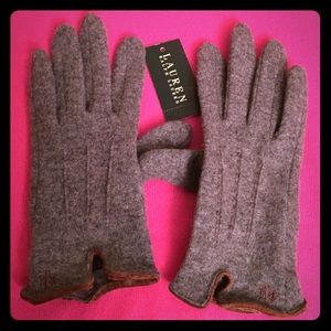 Lauren Ralph Lauren Wool/Cashmere Blend Gloves