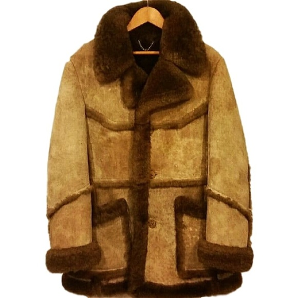 e0b24e08b4 Leathercraft Other - Vintage 80s Sheepskin Coat Marlboro Man Sz 40