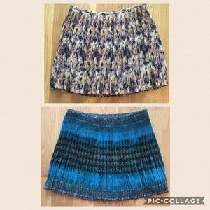 Broadway and Broome Madewell silk pleated skirts