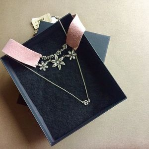 NWT Gorgeous pink suede choker necklace