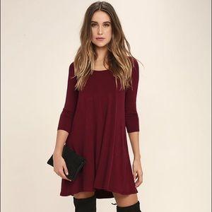 Lulu's Dresses & Skirts - Quarter Sleeve Swing Dress