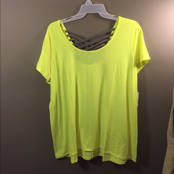 24e684df Lane Bryant Tops | Active Green Criss Cross Back Shirt | Poshmark
