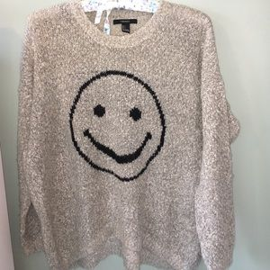 Forever 21 smiley oversized sweater