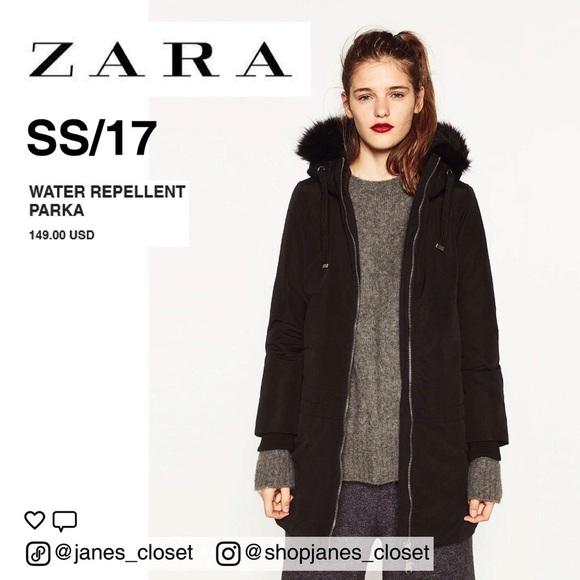 8604e780 Zara Jackets & Coats | Water Repellent Parka | Poshmark