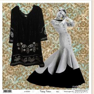Ivy Jane Uncle Frank Black Velvet Dress Tunic