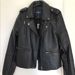 Moto leather jackets.
