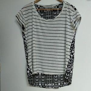 Olivia Moon Tops - Striped two sided tshirt