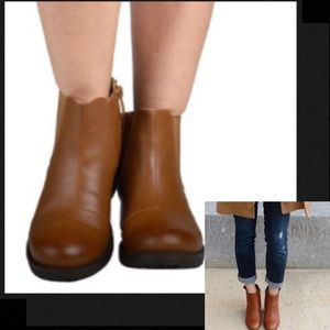Shoes - 🆕Side elastic ankle booties -brown