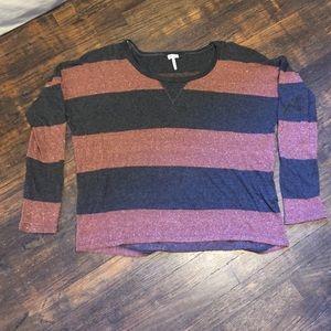Splendid Metallic Striped Sweater