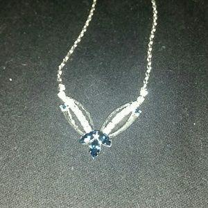 Jewelry - *Blue & CZ Silver Necklace*