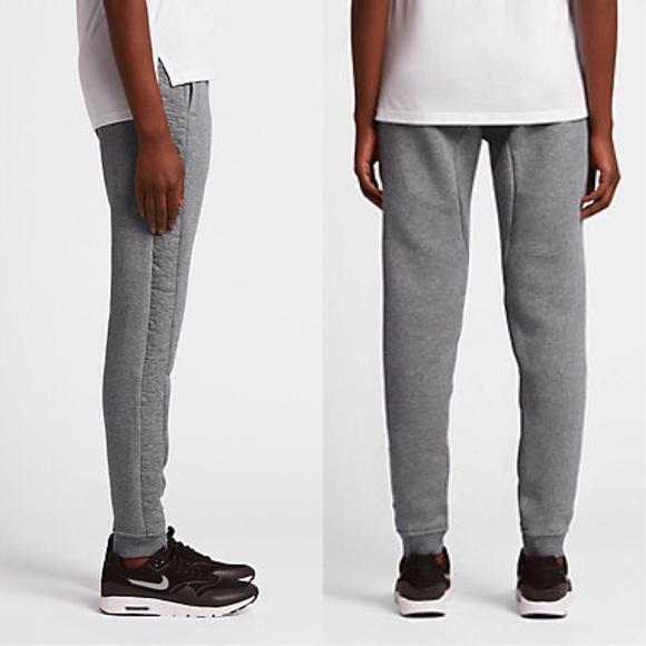 Popular Nike Sportswear Jersey Cuffed Training Pants Women  Dark Grey White