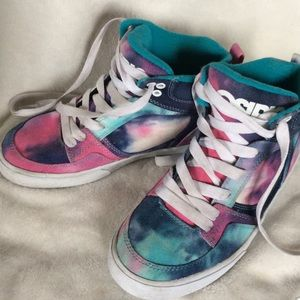 Osiris Shoes - Tie-Dye high top sneakers pink/blue