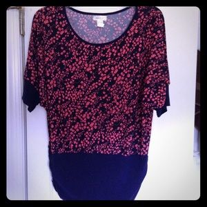 Casual Land Tops - 2/$20 Pink Flower Vine Blouse
